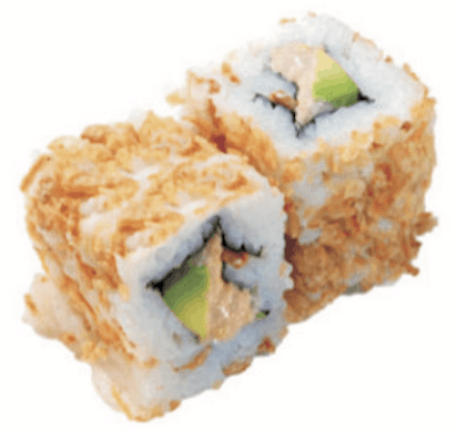 Crispy Rolls Chair de Crabe Avocat Uramaki